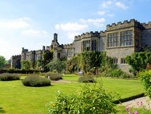 Haddon Hall, Derbyshire. The South front and gardens at Haddon Hall, Peak District National Park, Derbyshire, England, UK Stock Images