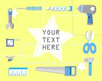 Haddyman tools cover header banner background vector illustration
