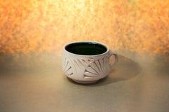 Hade hizo la taza de la arcilla Imagen de archivo libre de regalías