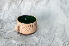 Hade made clay cup  Royalty Free Stock Images