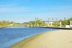 Hadera河公园 库存图片