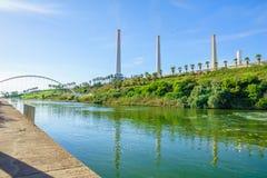 Hadera河公园 库存照片