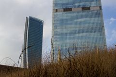 The Hadid skyscraper and Isozaki tower Royalty Free Stock Photo