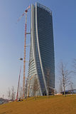 The Hadid Tover under construction at Citylife; Milan Royalty Free Stock Photo