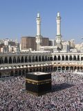 Hadj. Holly Kaaba in Mecca, Saudi Arabia stock images