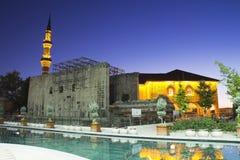 Hadji Bayram Mosque at dusk Stock Image