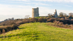Hadleigh城堡/废墟 图库摄影