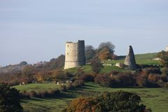 Hadleigh Castle Essex England Stock Photos