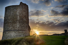 Hadleigh Castle: An Old Medival Derelict Castle Royalty Free Stock Photo
