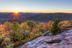 Hadley Mountain Autumn Sunset fotografia de stock