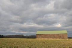 Hadley Tobacco Barn Arkivfoton