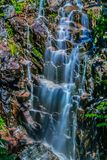 Hadlock Falls In Acadia National Park royalty free stock image