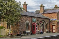 Hadlow road railway station. Wirral stock images