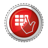 hadn typing safety pin or password icon image royalty free illustration