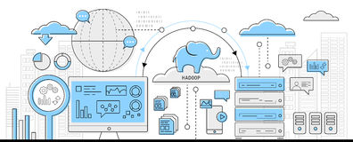 Hadoop Bigdata concept icon web Stock Photos
