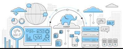 Hadoop Bigdata pojęcia ikony sieć ilustracji