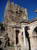 Hadreanus fortificaation in antalya Royalty Free Stock Photo
