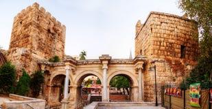 Hadrian's Gate, Antalya, Turkey Royalty Free Stock Images
