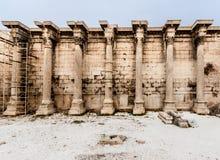 Hadrian图书馆雅典希腊 图库摄影