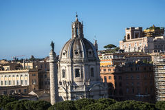 Hadrian在罗马意大利古老论坛的` s专栏  免版税库存照片