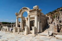 Hadrian寺庙在以弗所古城, Selcuk,土耳其 库存图片