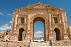 Hadrian曲拱在杰拉什 免版税图库摄影
