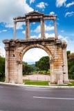 Hadrian曲拱在雅典,希腊 免版税库存图片