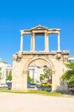 Hadrian曲拱在雅典,希腊 图库摄影