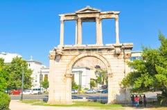 Hadrian曲拱在雅典,希腊 库存照片