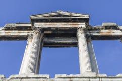 Hadrian曲拱在雅典 免版税库存图片