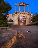 Hadrian曲拱早晨,雅典,希腊 免版税图库摄影