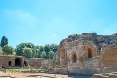 Hadrian的别墅,罗马帝国皇帝的'别墅, Tivoli,在罗马外面,意大利,欧洲 免版税图库摄影