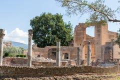 Hadrian的别墅,罗马帝国皇帝的'别墅, Tivoli,在罗马外面,意大利,欧洲 免版税库存照片