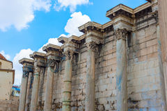 Hadrian的图书馆在雅典,希腊 免版税图库摄影