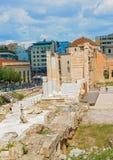 Hadrian的图书馆在雅典,希腊 库存照片