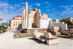 Hadrian的图书馆在雅典 库存照片