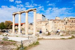 Hadrian的图书馆在雅典 免版税图库摄影