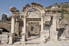 Hadrian的寺庙 免版税图库摄影