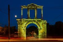 Hadrian的曲拱在雅典,希腊 免版税库存图片