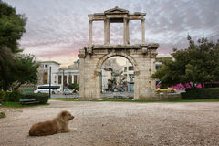 Hadrian的曲拱在雅典 免版税库存照片