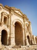 Hadrian的曲拱,杰拉什,约旦入口  库存图片