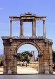 hadrian的曲拱 库存照片