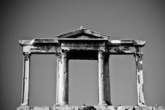 hadrian的曲拱 免版税库存图片