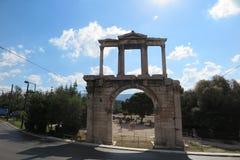 hadrian的曲拱 库存图片