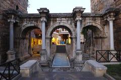 Hadrian的门,安塔利亚 免版税库存照片
