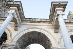 Hadrian门细节 免版税库存图片