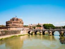 Hadrian陵墓在罗马,意大利 免版税库存图片