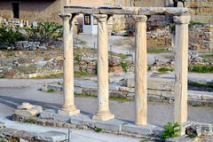 Hadrian,市古老图书馆雅典,希腊 免版税库存图片