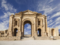Hadrian,杰拉什曲拱  免版税图库摄影