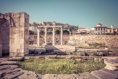 Hadrian,雅典,希腊图书馆  图库摄影